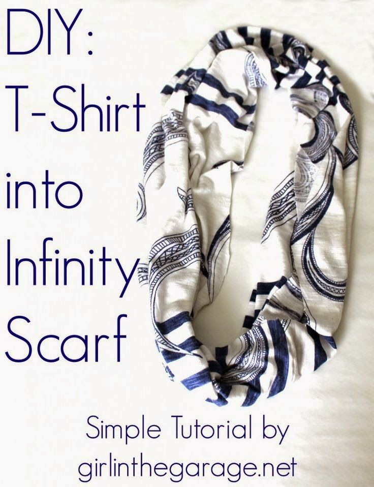 Best DIY Projects: Easy DIY Tutorial: T-Shirt into an Infinity Scarf.