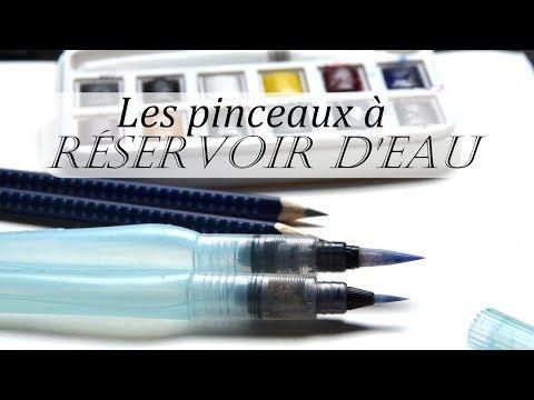 Utiliser Les Pinceaux A Reservoir D Eau Aquarelle Youtube
