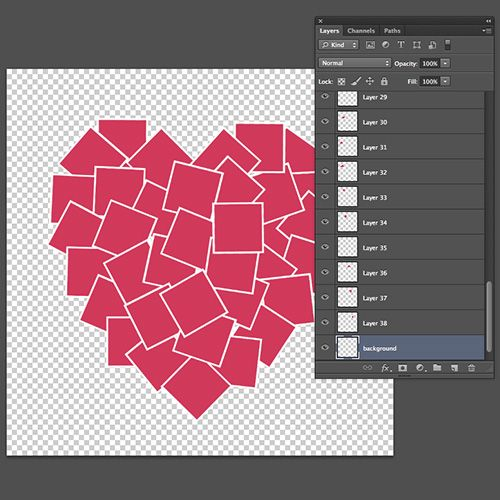 Free heart shaped photo collage template, for Photoshop/PS ...