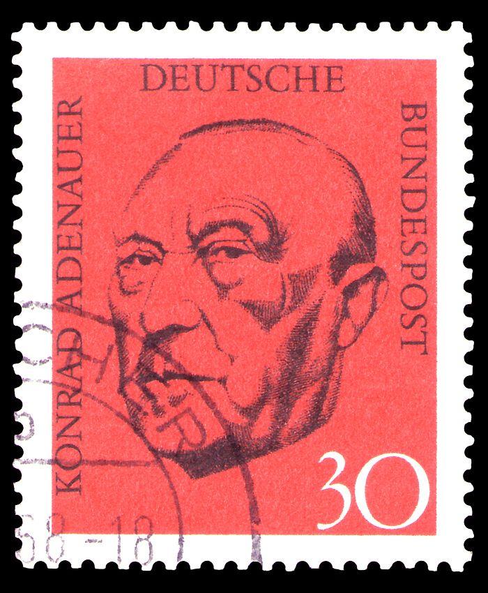 Konrad Adenauer en sello.