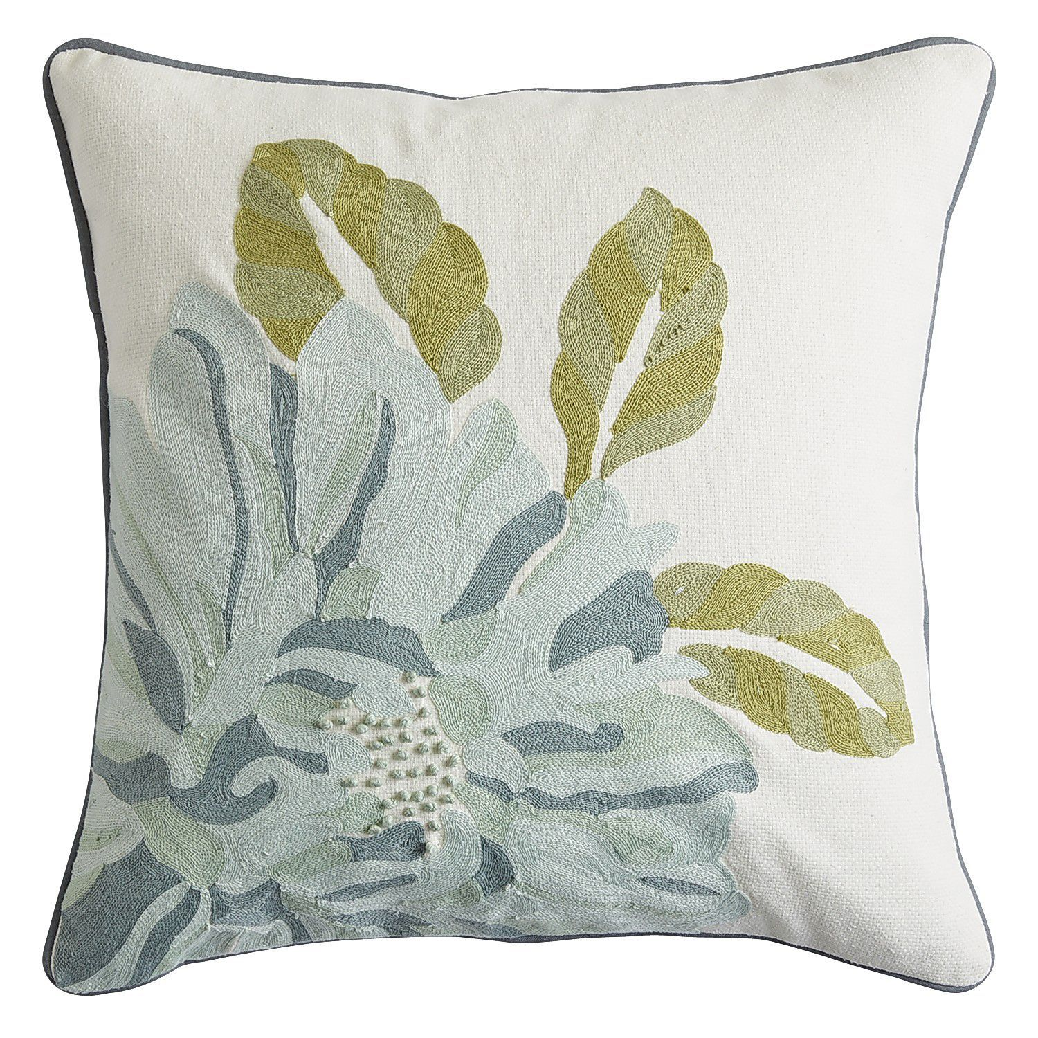 Throw Pillow: Spring meadow with green