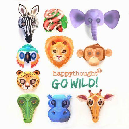 diy printable wild animal masks download mask templates now