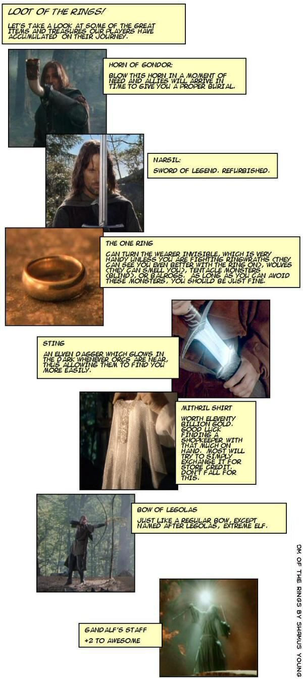 DM of the Rings - What if LotRs were a role-playing game? It would be hilarious. Complete.