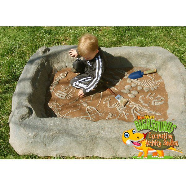Digasaurus Activity 3.9' Sandbox With Cover