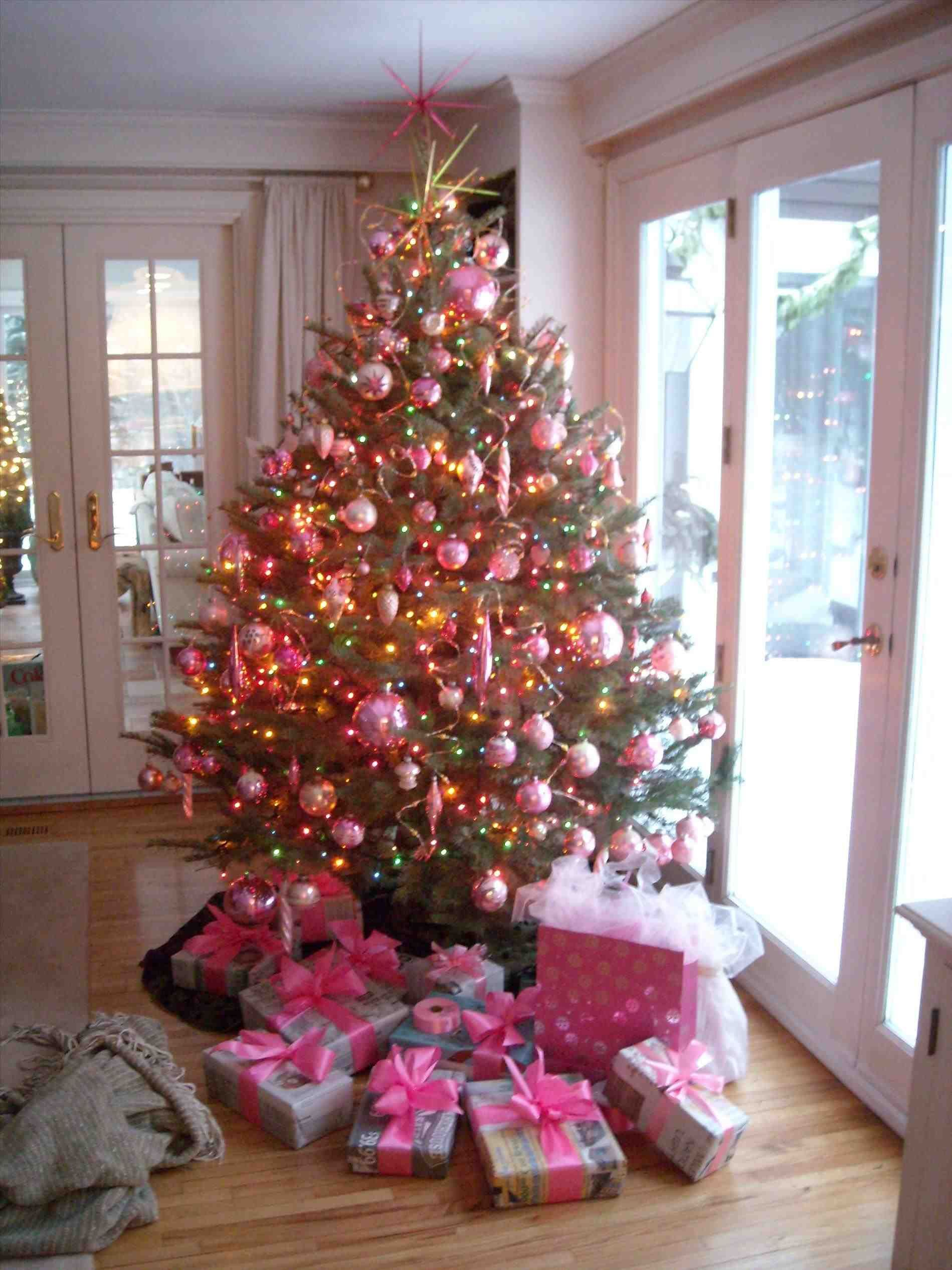New Post White Christmas Tree With Pink Decorations Trendingcheminee Website