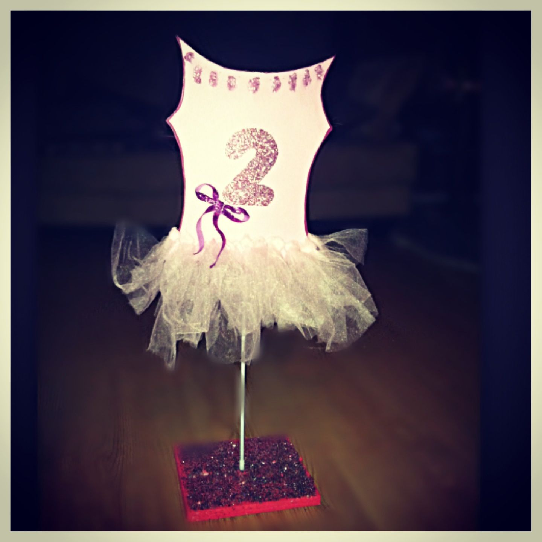 girls ballerina centerpiece