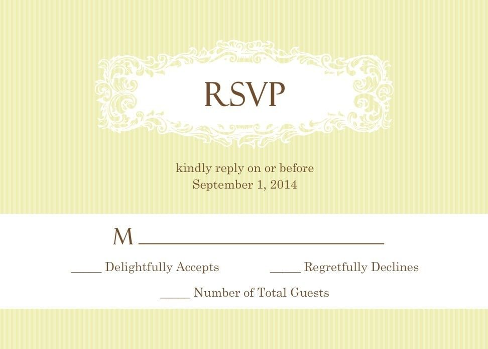 A wedding RSVP will give your guests an easy means of contacting ...
