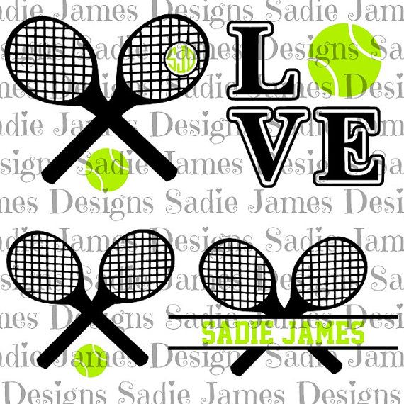 Tennis Sports Collection Svg And Silhouette Studio Cutting