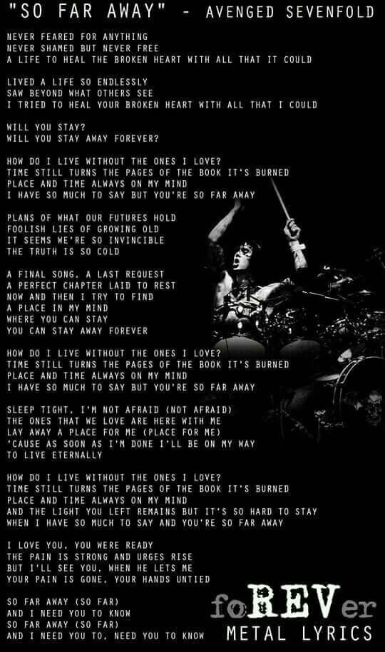 Avenged Sevenfold Avenged Sevenfold Lyrics Avenged Sevenfold Quotes Rock Music Quotes