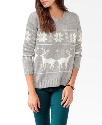 Relaxed Fair Isle Sweater | FOREVER21 - 2030186894 | Style ...