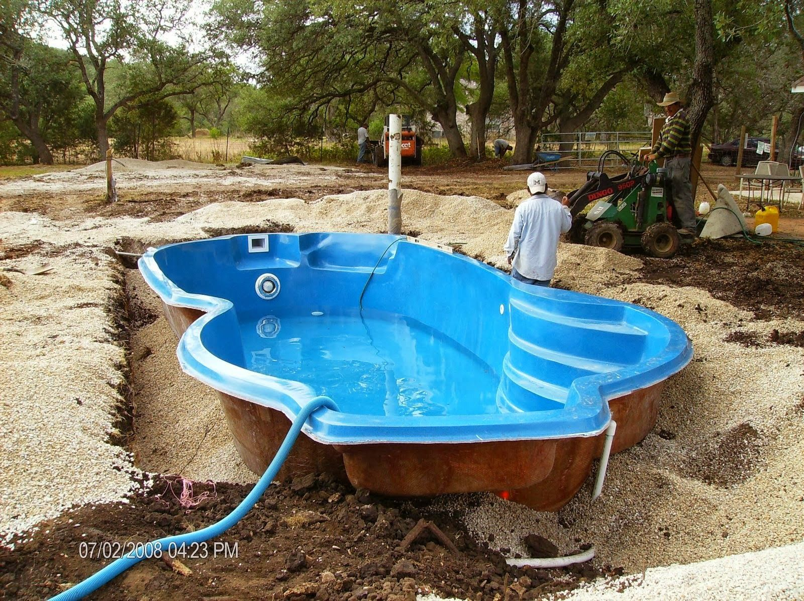 the problem with one piece fiberglass in ground pools general within ...