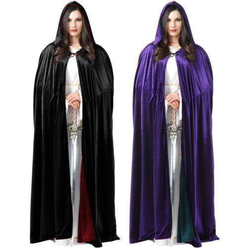 capes coats and cloaks 155345 cloak adult reversible velvet hooded robe halloween costume fancy dress