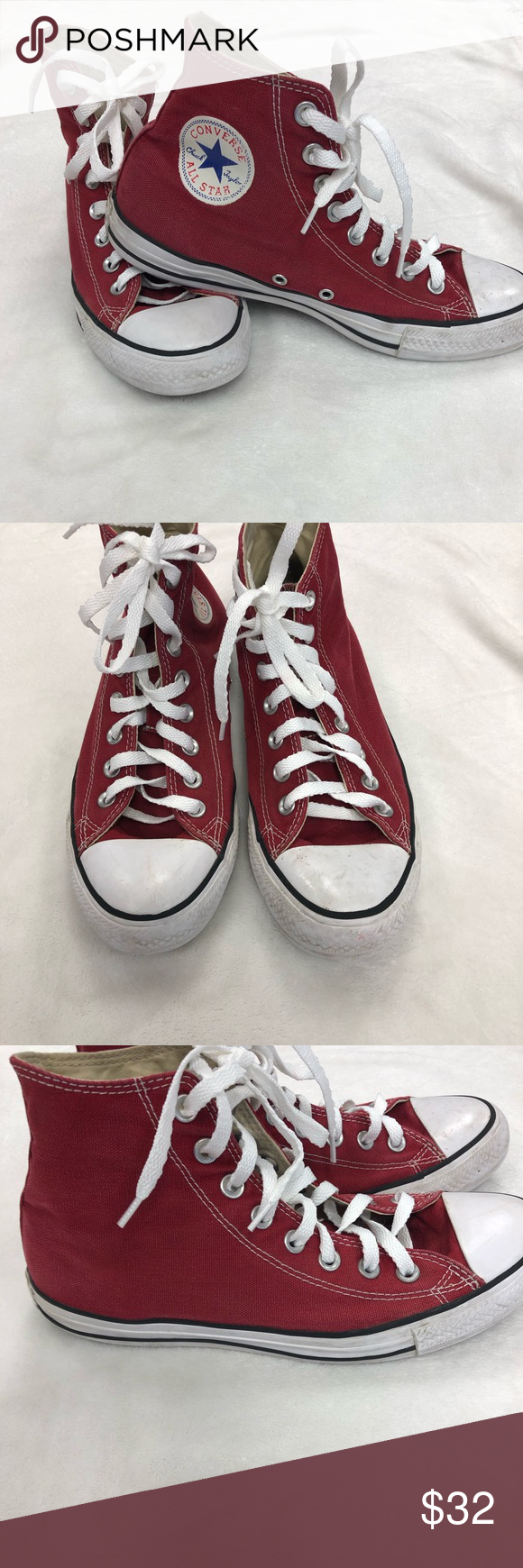 0cc0f9eea3ab Converse All star high tops size 9 burgundy Converse Chuck Taylor All star  high top shoes