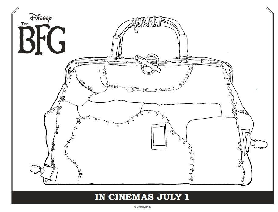 BFG Coloring Sheets, Trailer, DVD, and More | Pinterest