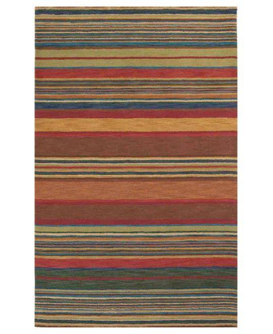"""Liora Manne Area Rug, Inca 9441/44 Stripes Multi 3' 6"""" x 5' 6"""""""