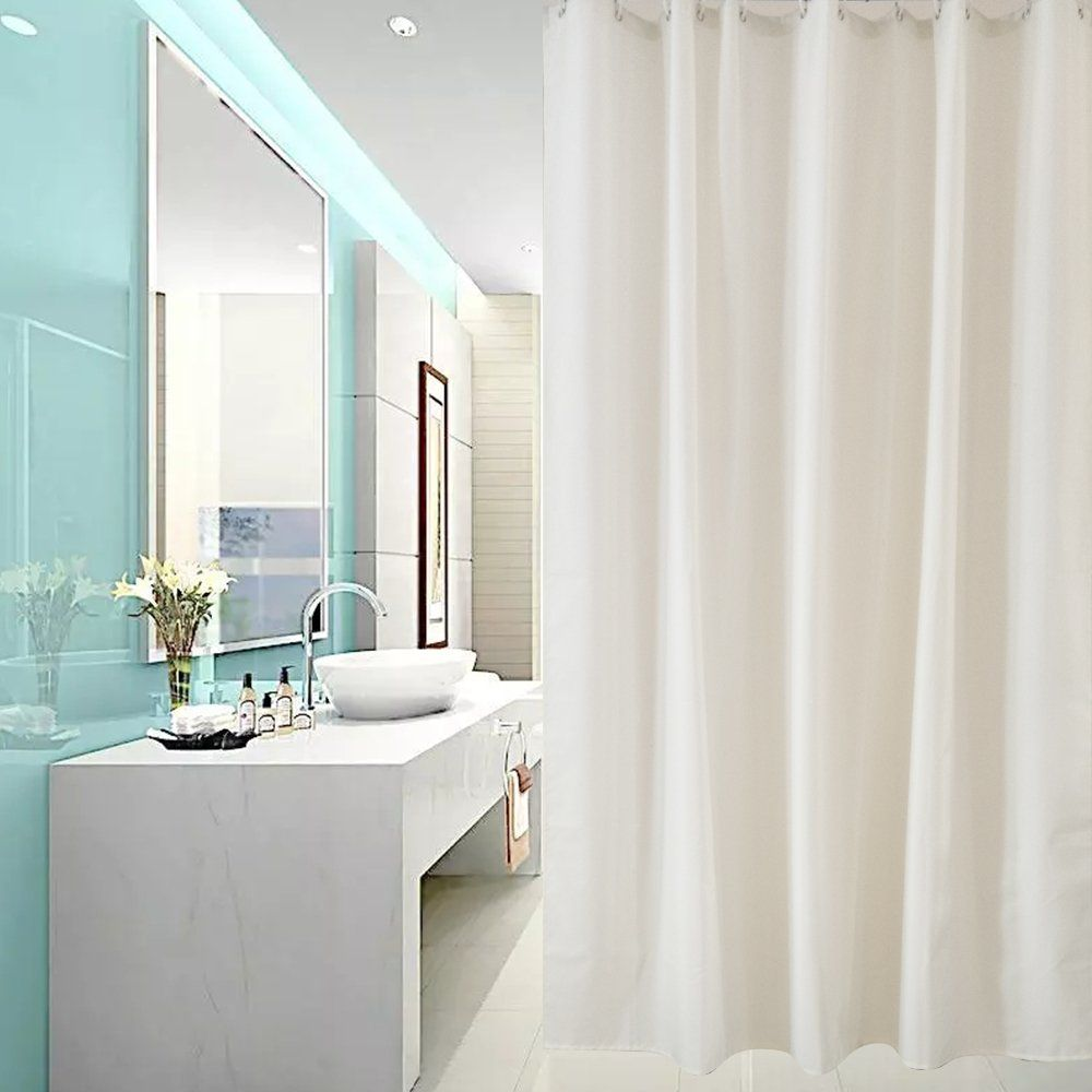Ufriday water repellent shower curtain polyester care for your