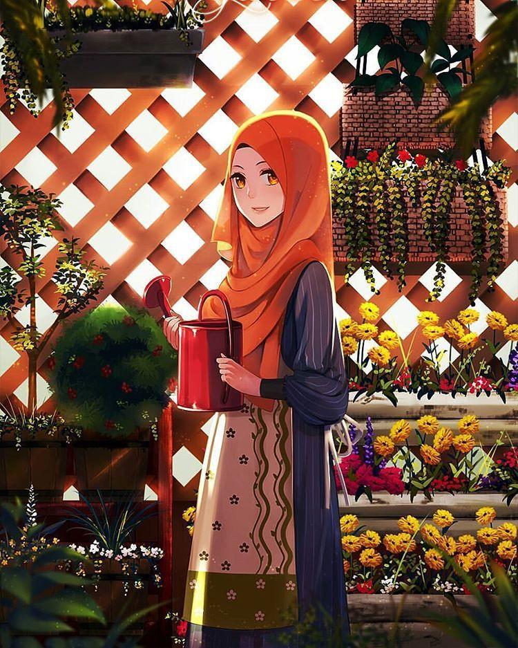 100 Gambar Foto Kartun Muslimah Terbaru 2018 Seni