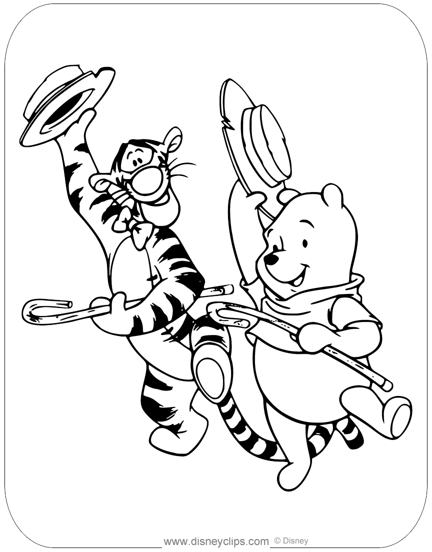 Pooh And Tigger Dancing In 2021 Coloring Pages Tigger Winnie The Pooh [ 1104 x 864 Pixel ]