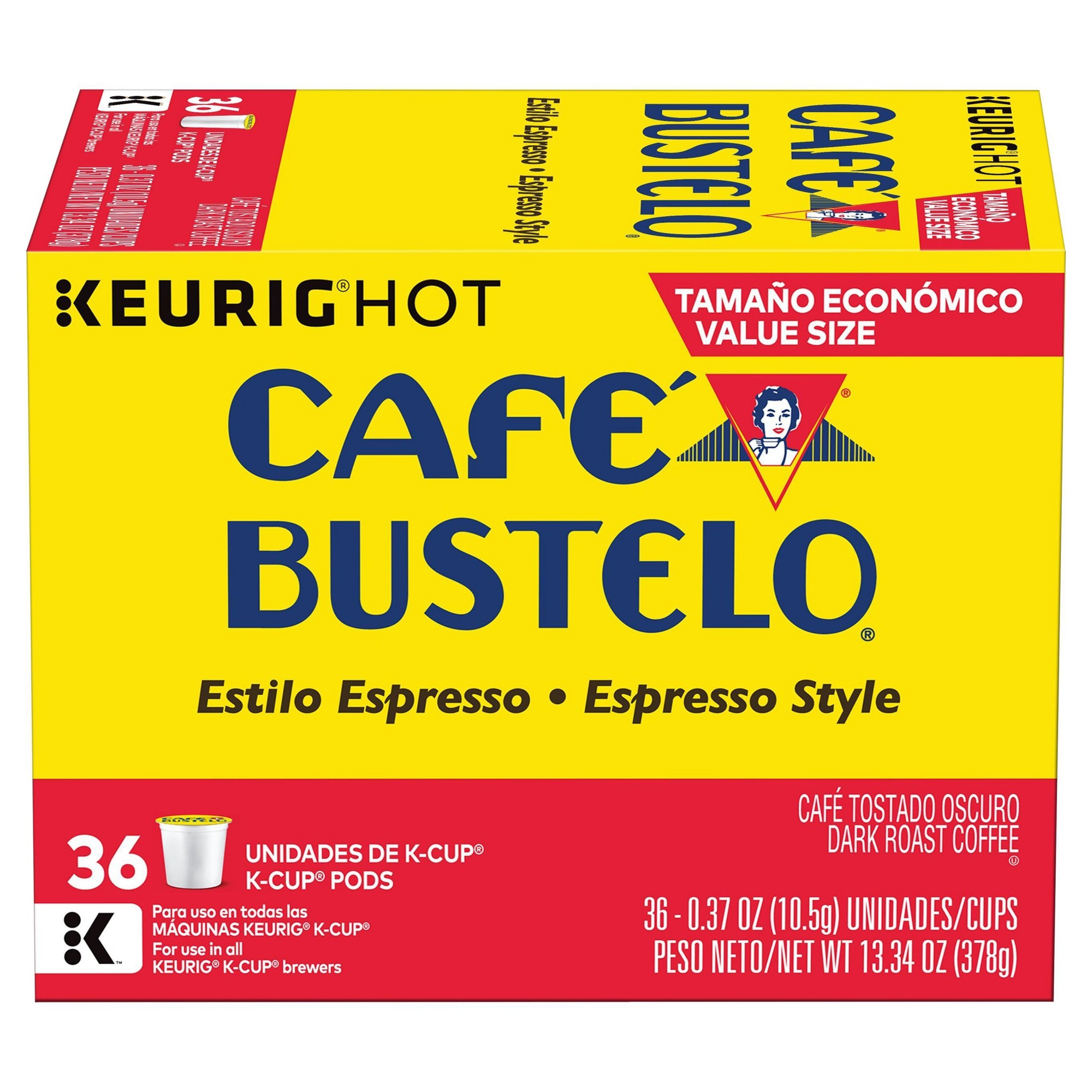 Cafe Bustelo Espresso Dark Roast Coffee Keurig K Cups Pods 36ct Espressocoffee Dark Roast Coffee Cafe Bustelo Coffee Roasting