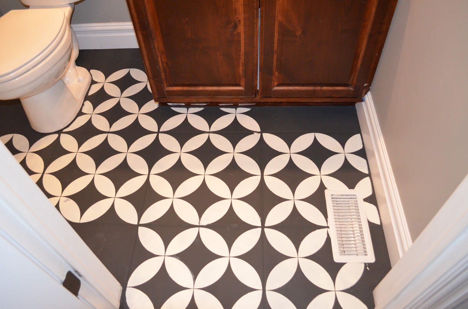 The girl who painted her tile what concrete walls and girls painted floor tiles dailygadgetfo Gallery