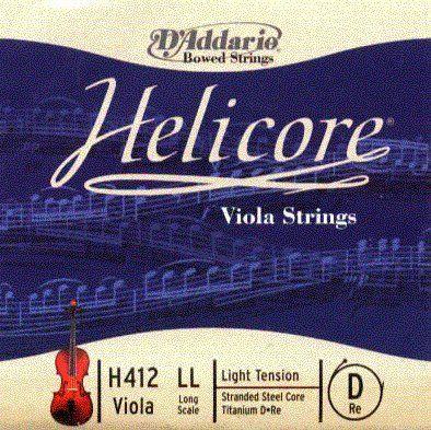 """Helicore Viola D String 16-17/"""" Titanium Long Scale--Light"""