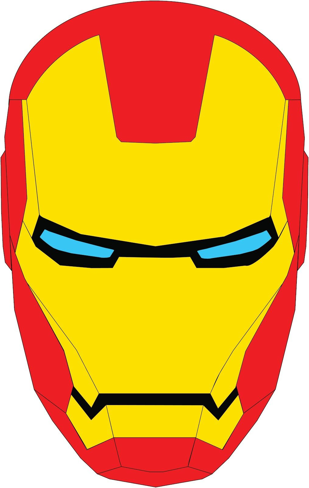 iron man mascara vector - Buscar con Google | tortaaasssss ...