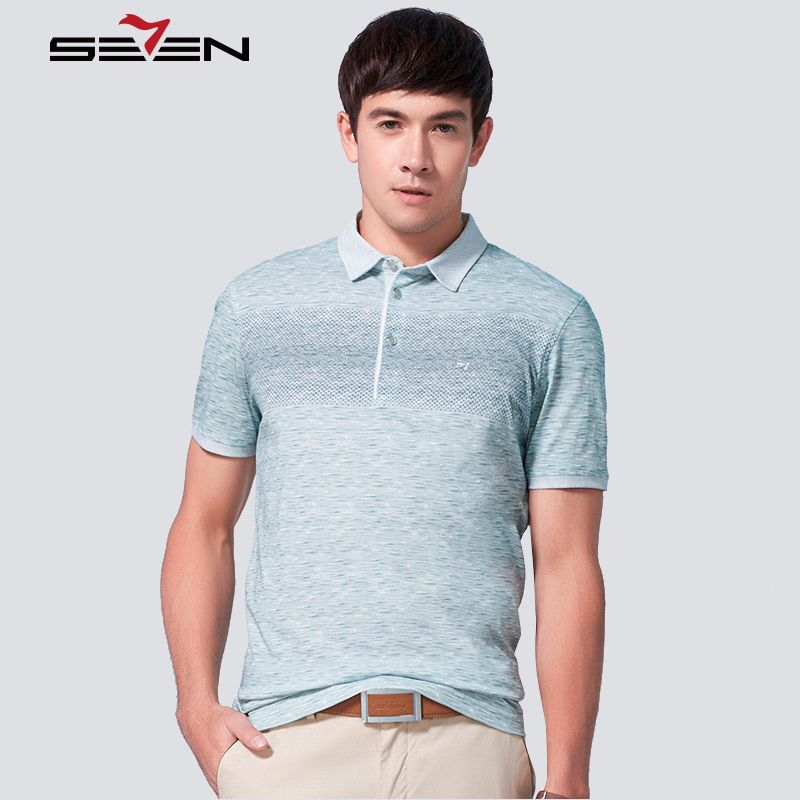 9645261daf Seven7 Brand Summer Men Polo Shirt Short Sleeve Cotton Striped Polo Shirts  Business Casual Fashion Polo Shirts 112T50240   Price   45.89   FREE  Shipping ...