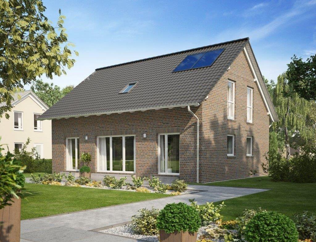 Einfamilienhaus mit Klinker Fassade & Satteldach