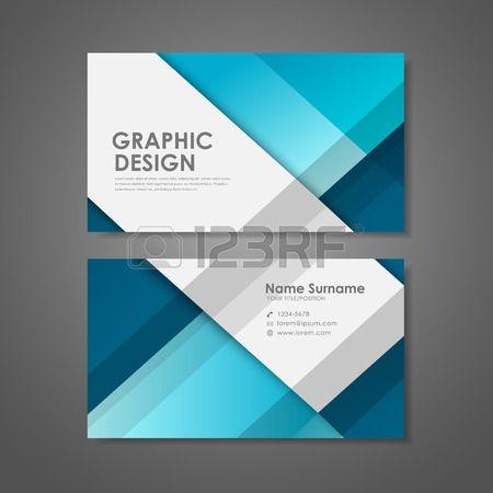 abstrakte kreative Visitenkarten Vorlage in blau Lizenzfreie Bilder ...