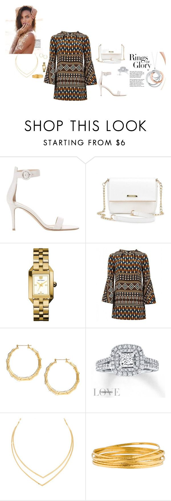 """""""outhimg with fiance"""" by chisomnatalie on Polyvore featuring Gianvito Rossi, Tory Burch, Gucci, Vera Wang, Tiffany & Co., Lana and Gurhan"""