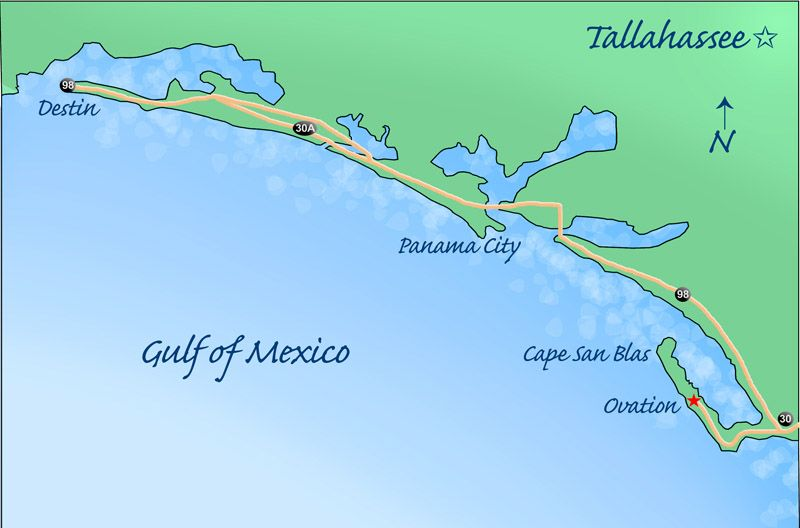 Cape San Blas Map | Ovation on Cape San Blas - Regional Map ... Cape San Blas Florida Map on
