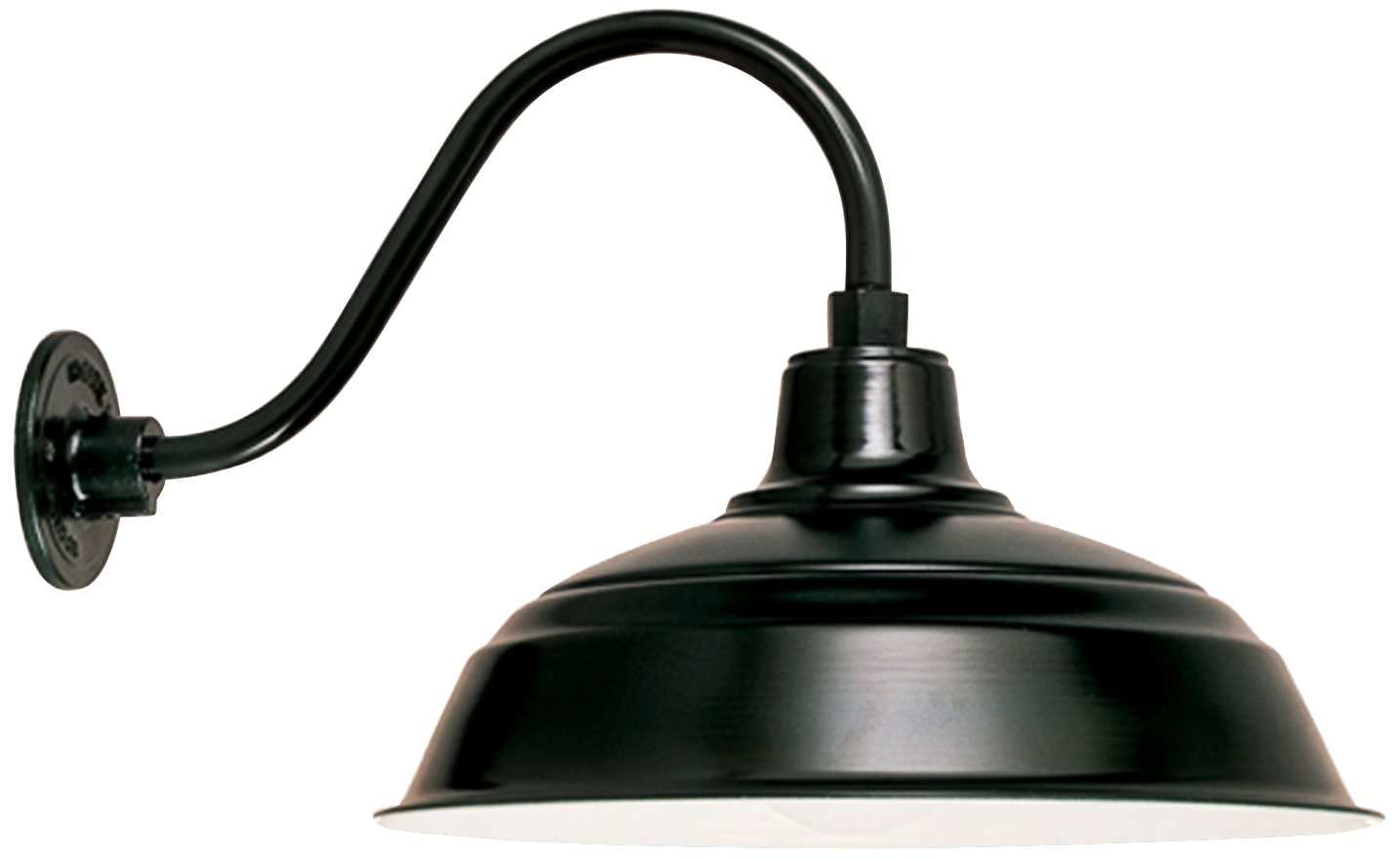 warehouse 9 1 2 h barn black gooseneck outdoor wall light style