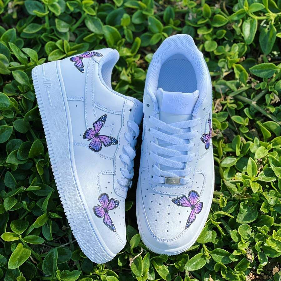 Lavender Butterfly AF1 in 2020 Shoe company, On shoes