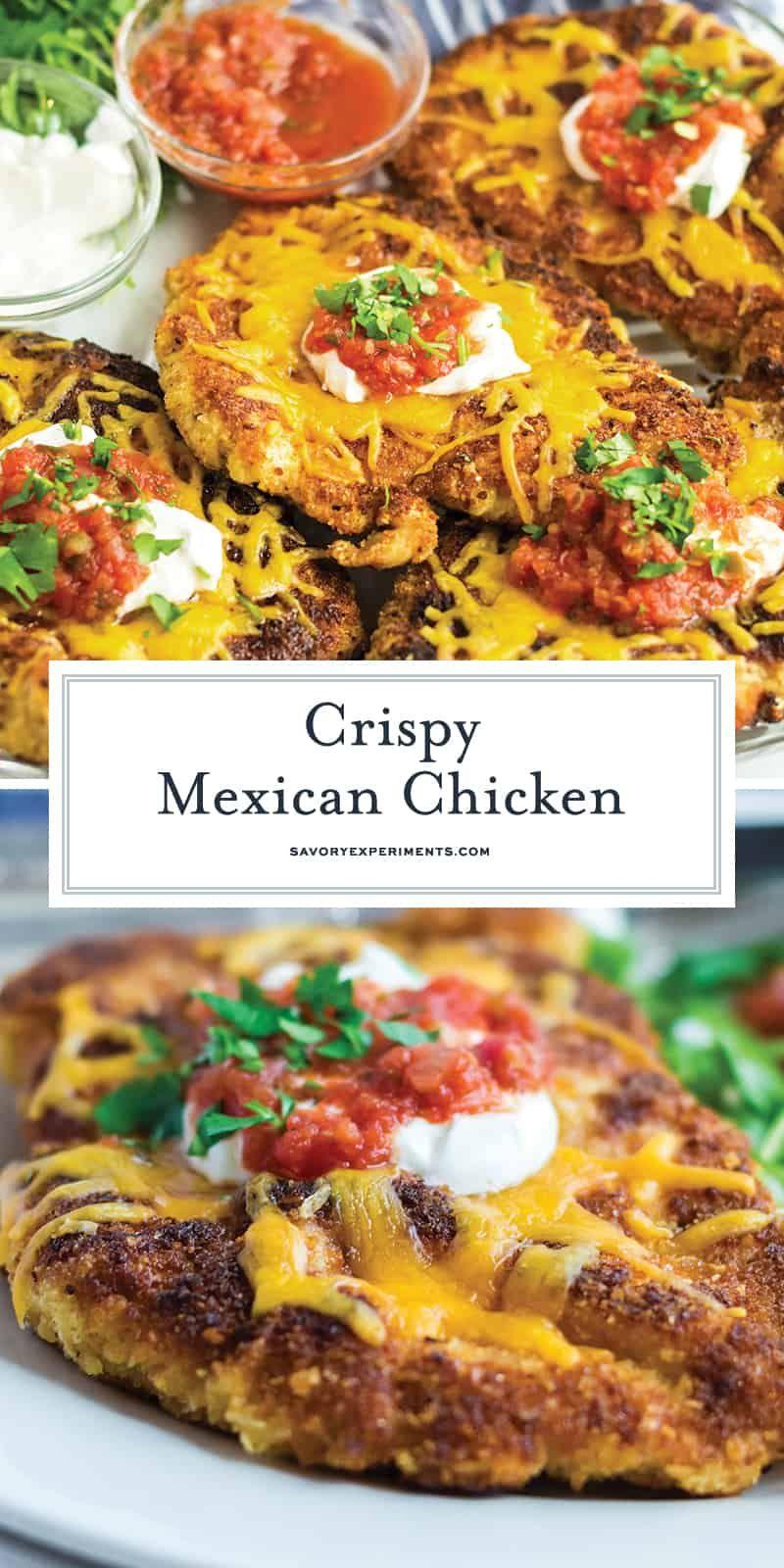 MEILLEURE recette de poulet mexicain croustillant - faite en moins d'une heure!