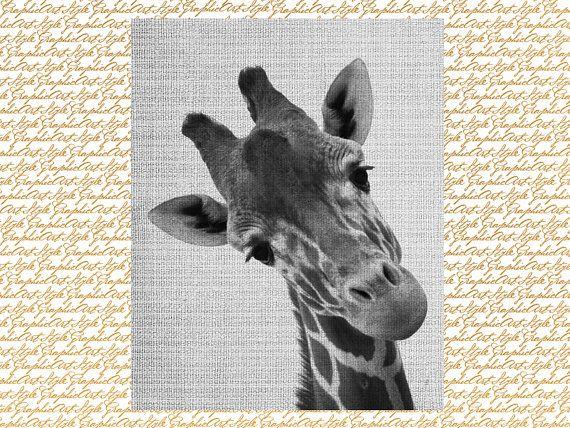 Giraffe print, Giraffe art, Giraffe wall art, Animal print, Wall ...