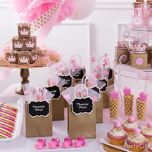 Baby Shower Ideas Party City: Princess Baby Shower Favor Bar Idea