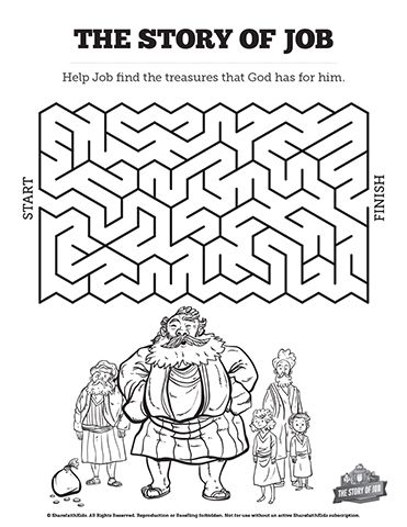 The Story Of Job Bible Mazes Visually Stunning And Fun To Solve