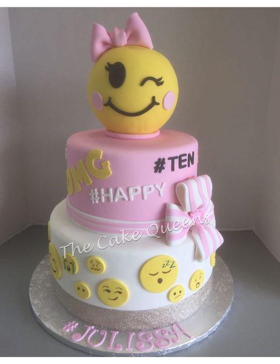 BELLAS 6TH BIRTHDAY CAKE Emoji Birthday Party Ideas Pinterest