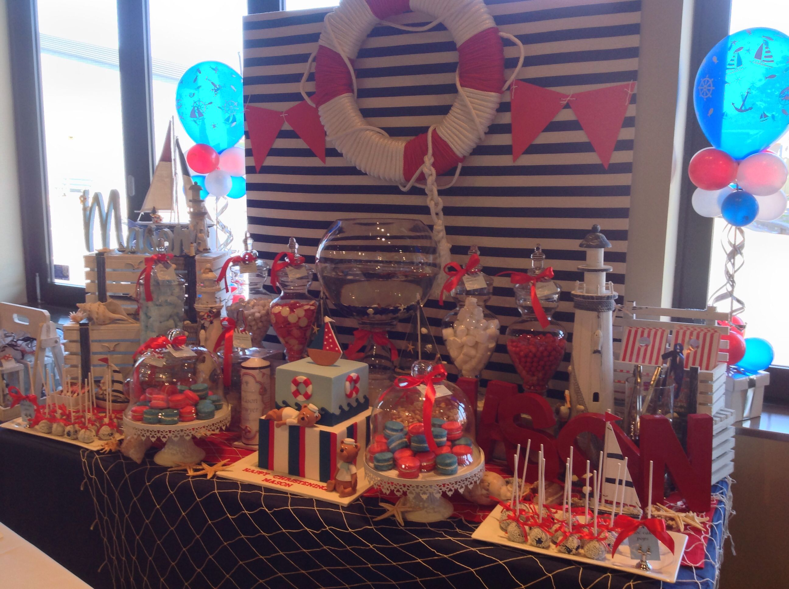 Nautical Theme Candy Bar Candy buffet Candy bar