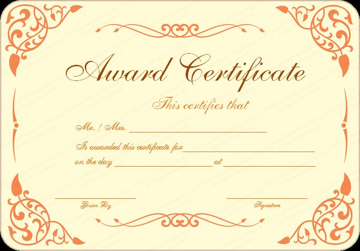 Certificate Templates   Dorm fun   Pinterest