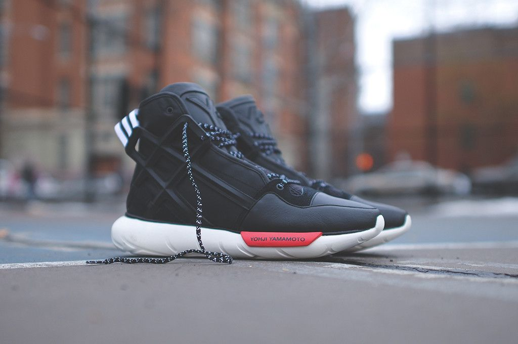 Y 3 Qasa B Ball Black Adidas 435 00 Y 3 Line Starts Off 2014 Strong With Another Rendition Of Arguably Their Womens Fashion Sneakers Sneakers Sneakers Fashion