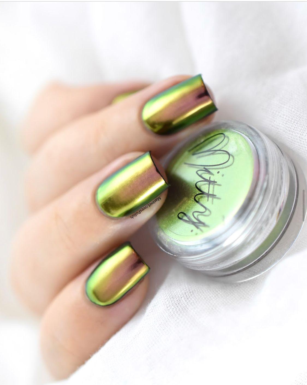 Mitty SUPER Chrome Nail Art Powder- Amber   Fingernägel, Auge und ...