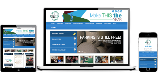 Check Out Denver Golf Expo S New Responsive Word Press Design We Had The Pleasure Of Working On Wordpress Website Design Web Design Design