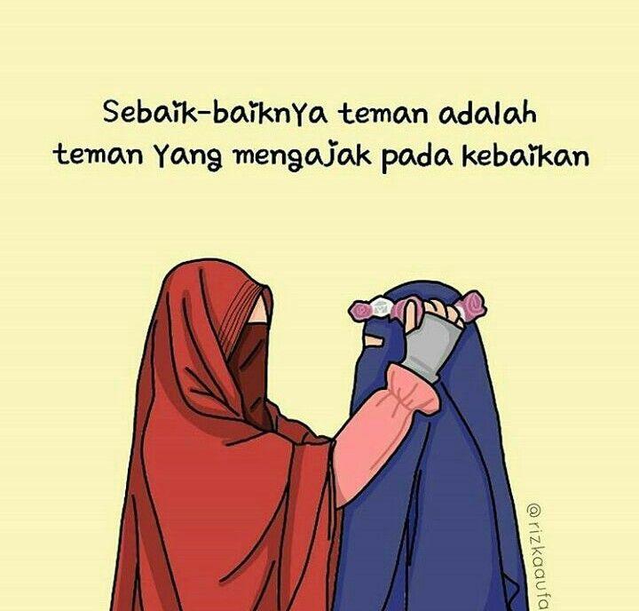 Kata Yang Bijak Muslimah Anime Islamic Cartoon Learn Islam Daily Reminder