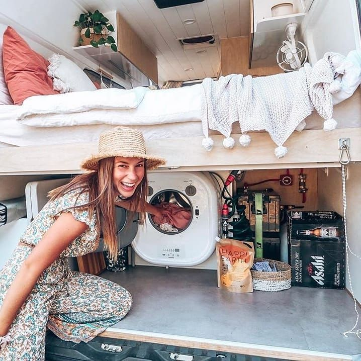 "Photo of Camper van tours on Instagram: ""Laundry time! .  Mercedes-Benz Sprinter …,  #Camper #Instag…"