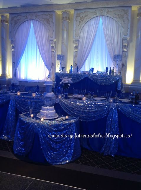 Diary Of A Trendaholic Blue And Silver Wedding Blue Silver Weddings Royal Blue Wedding Silver Wedding