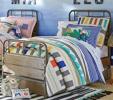 Margherita Missoni Linen Patchwork Quilted Bedding | Pottery Barn ...