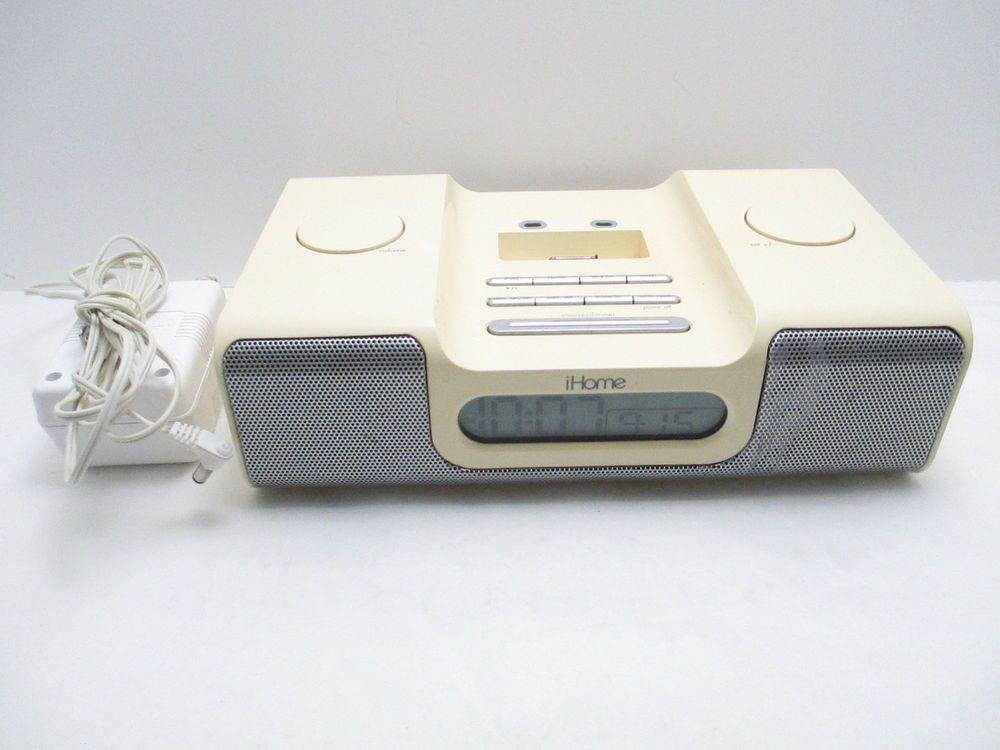 iPod Docking Station iHome IH5 Speaker System Alarm Clock ...