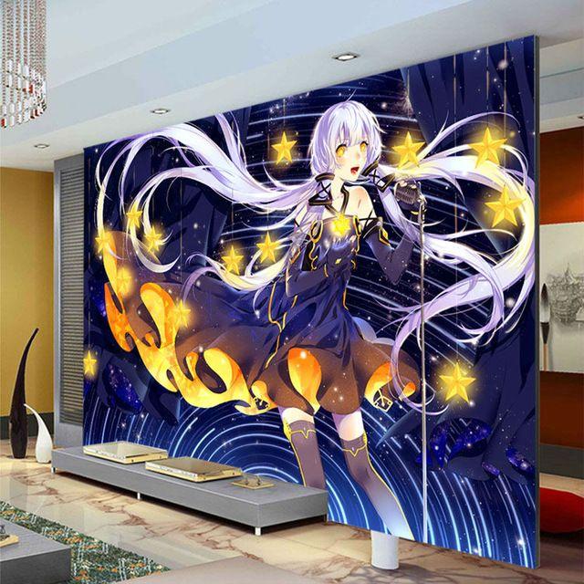 Japanese Anime Wallpaper Custom 3D Photo Hatsune Miku Wall Murals Kids Girls Boys Bedroom Art
