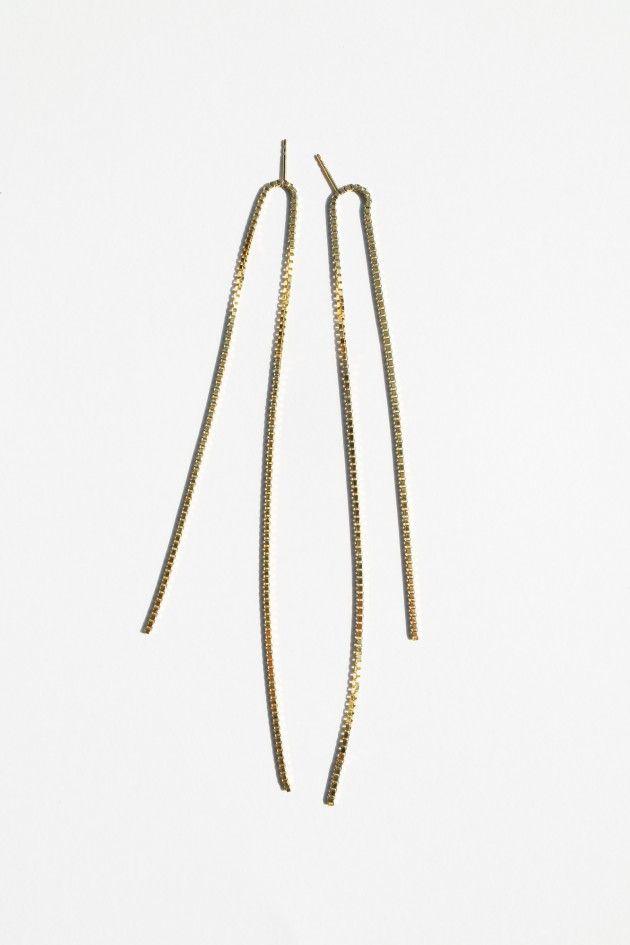Gold Open FRINGE earrings · Saskia Diez